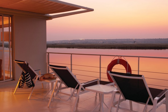 Sunset on the Zambezi Queen
