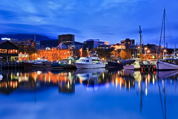 Hobart, Tasmania at night