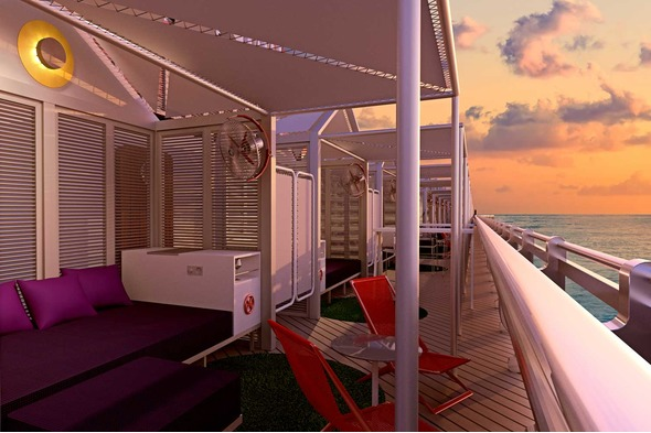 Virgin Voyages - club cabana