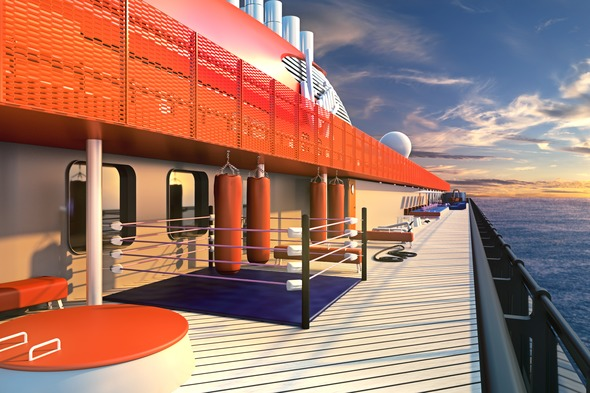 Virgin Voyages - athletic club training centre