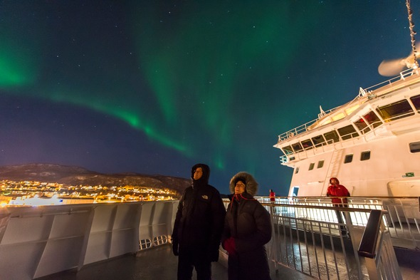 Northern Lights - Hurtigruten cruise