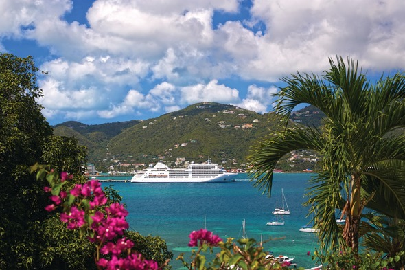 Silversea's Silver Spirit in Tortola, British Virgin Islands