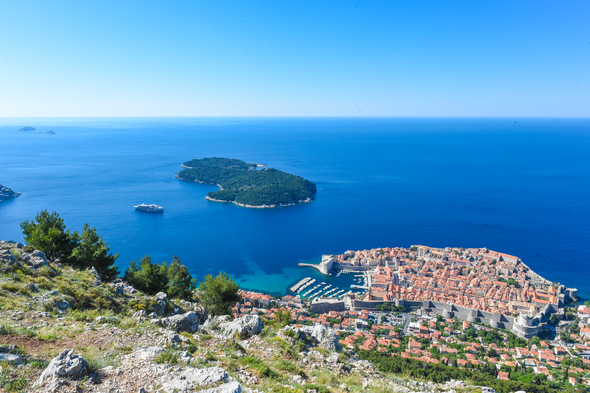Ponant's Le Lyrial in Dubrovnik, one of the best small ship cruises to Croatia and the Adriatic