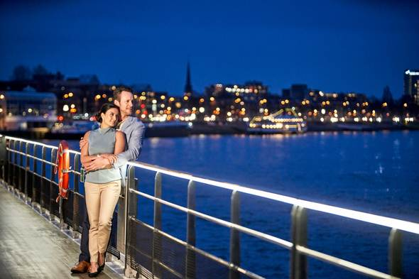 Couple on deck on Crystal Rhine river cruise