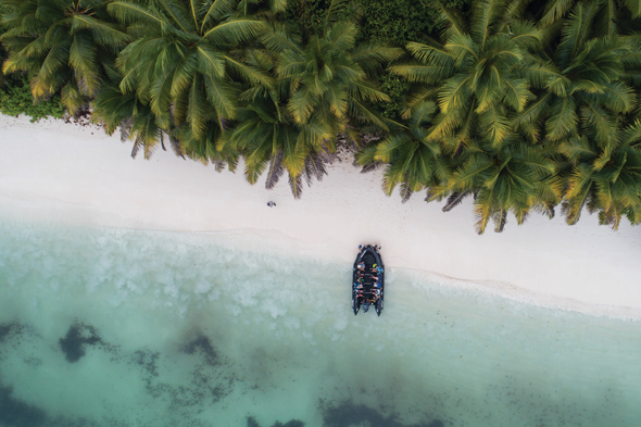 Silversea Expeditions - Zodiac landing in the Seychelles