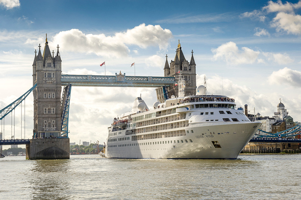 Silver Wind sailing out of London, one of the best no fly cruise options