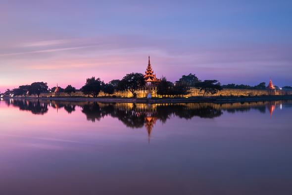Mandalay skyline.