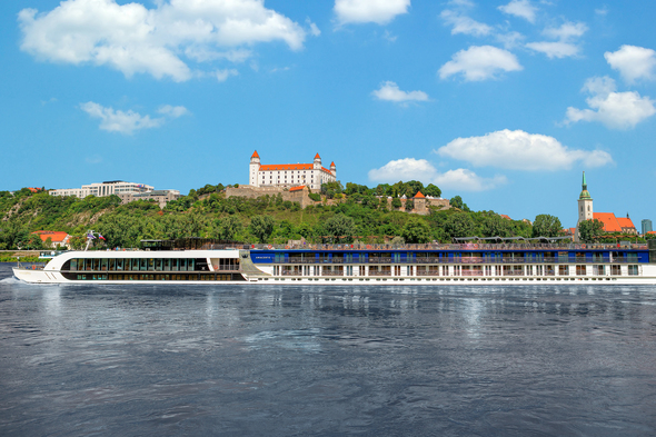 AmaWaterways AmaCerto on the Danube in Bratislava - Read our review to find out more