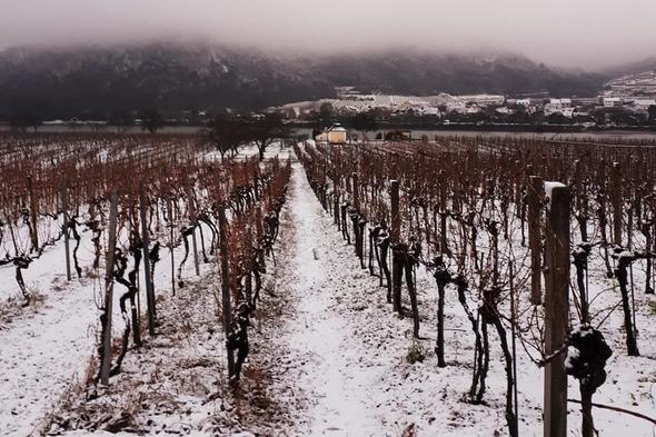 Durnstein, Austria in the snow
