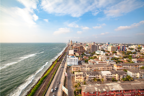 Aerial view of Colombo, Sri Lanka