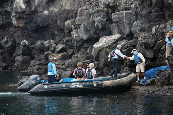 Silversea Expeditions - Zodiac landing in the Galapagos