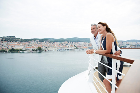 Seabourn - Couple on the Observation Deck