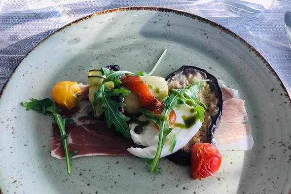 Cuisine in Portobellos restaurant on Scenic Opal