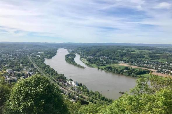 Rhine views from Drachensburg Castle