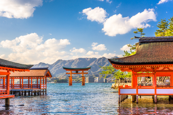 Floating shrine in Miyajima, Japan