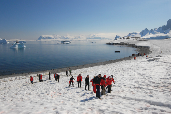 Antarctica expedition cruises - Silversea zodiac landing