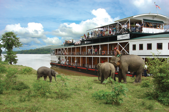 Pandaw river cruise in Myanmar