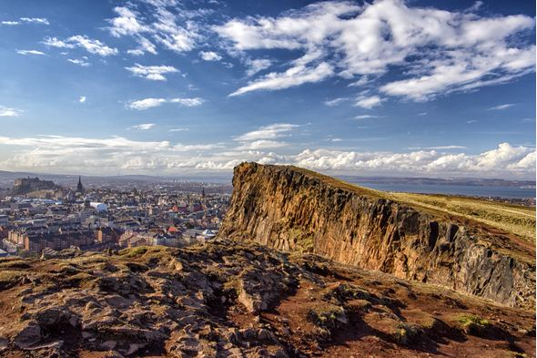Edinburgh, a key port for cruises from Scotland