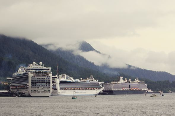 Cruise ships in Ketchikan, Alaska