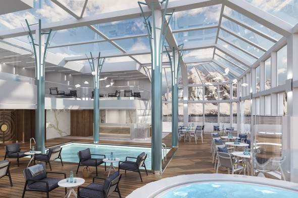 Crystal Endeavor - Solarium and pool