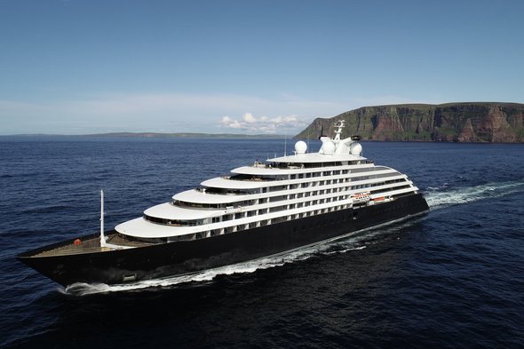 Scenic Eclipse en route to the Arctic