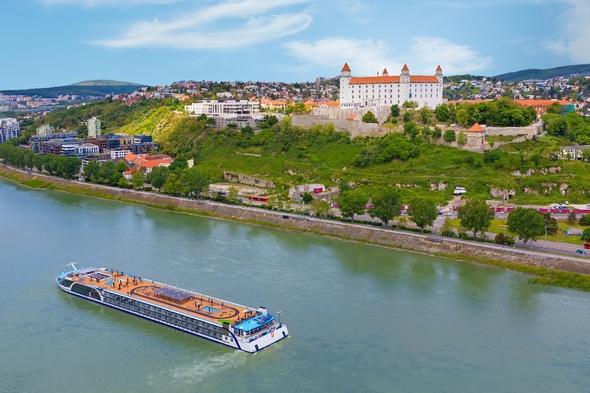 AmaMagna on the Danube river in Bratislava, Slovakia
