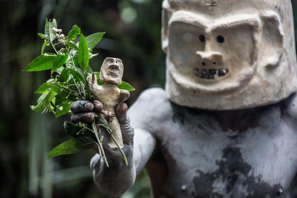 Mudman in Papua New Guinea