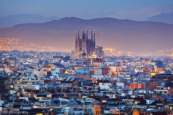View of La Sagrada Familia, Barcelona