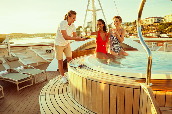 Enjoying life on board after choosing Seabourn, one of the top luxury cruise lines