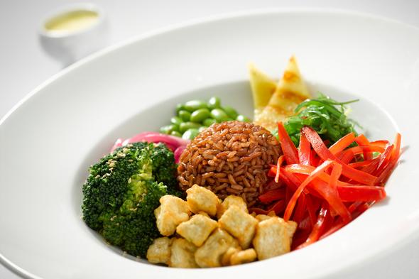 Regent Seven Seas Cruises plant-based cuisine - Hawaiian poke bowl