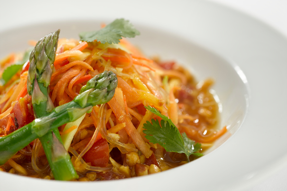 Green papaya kelp noodle salad, part of Oceania Cruises' new vegan-friendly plant-based menu