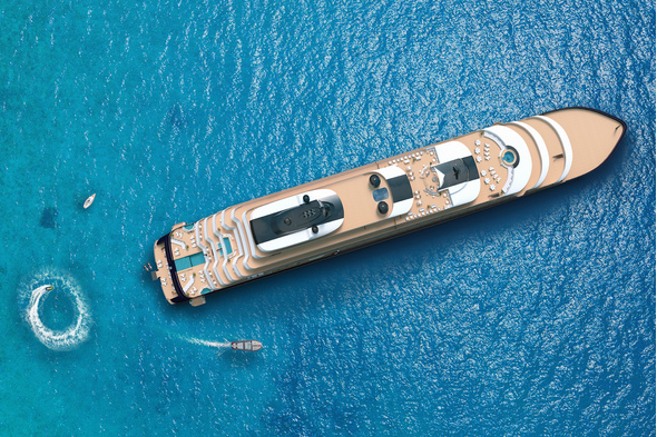 The Ritz-Carlton Yacht Collection - Aerial view of Evrima