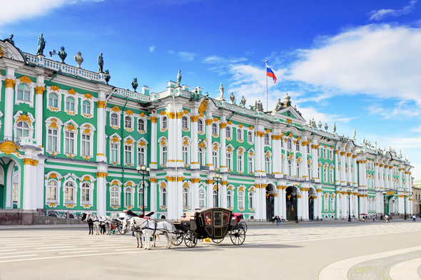 The Winter Palace in St Petersburg, Russia