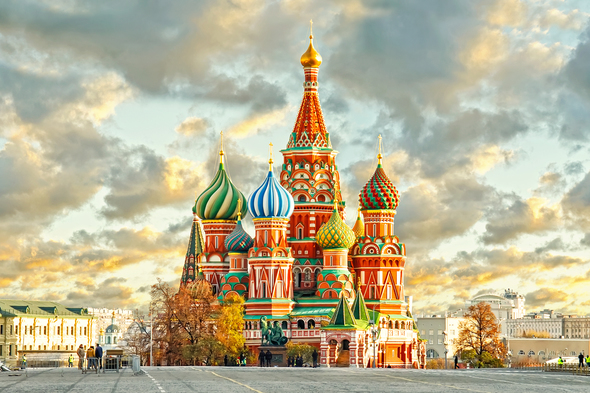 Red Square and St Basil's in Moscow, one of the highlights of a Russia cruise
