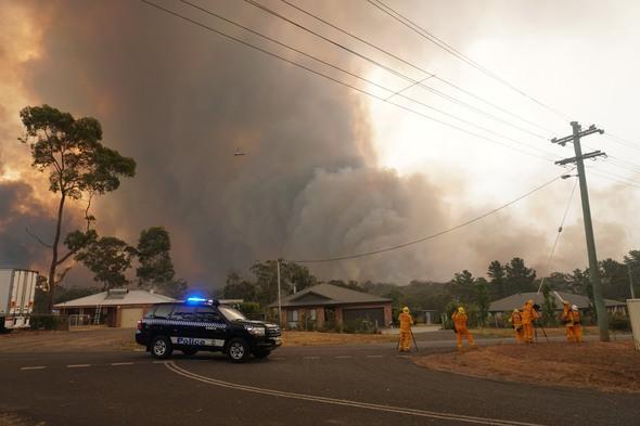 Bushfire in Yanderra, Australia