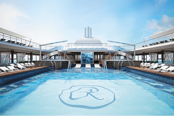 Regent Seven Seas Splendor - Main Pool