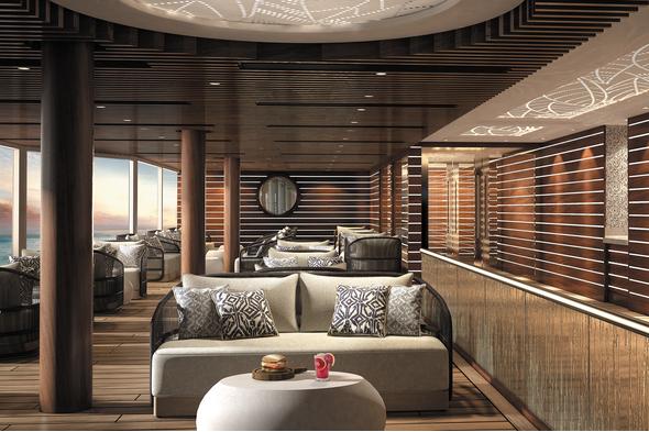 Regent Seven Seas Splendor review - Pool deck grill