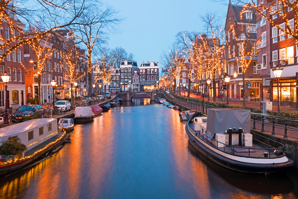 Amsterdam canals at Christmas