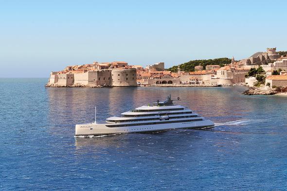Emerald Azzurra cruising the Dalmatian Coast near Dubrovnik