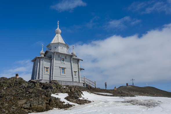 Russian Orthodox church on King George Island, Antarctica