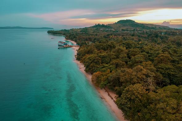 Liang beach, Ambon, Indonesia