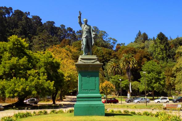 Juan Martinez de Rozas monument in Concepcion, Chile