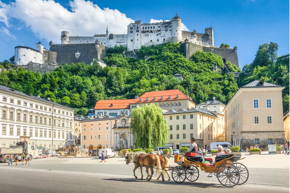 Horse and carriage in Salzburg, Austria