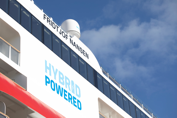 Hurtigruten's hybrid-powered ship MS Fridtjof Nansen