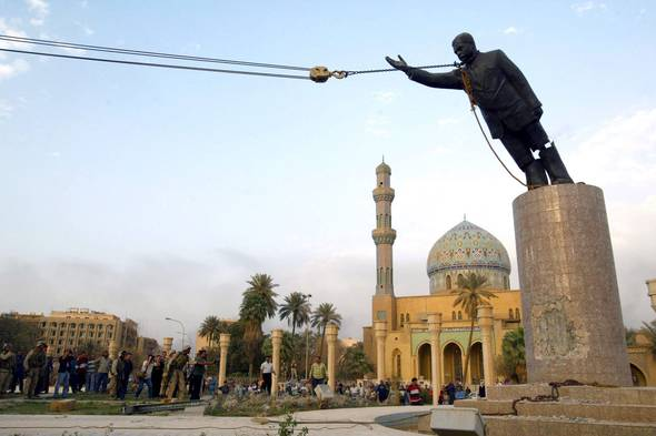 Saddam Hussein's statue is toppled in Baghdad, Iraq