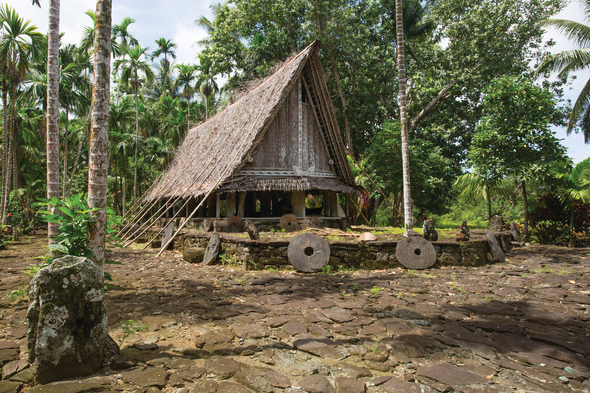 Wooden house in Yap, Micronesia