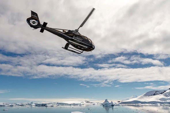 Scenic Eclipse helicopter flight over Antarctica