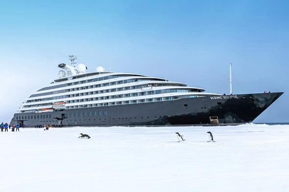 Scenic Eclipse in Antarctica, captained by Erwan Le Rouzic