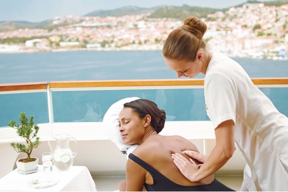 Massage on board Seabourn