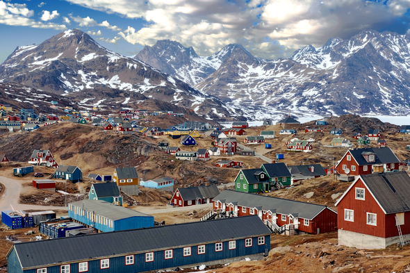 Tasiilaq in Greenland, one of the destinations you can reach on a longer cruise from the UK